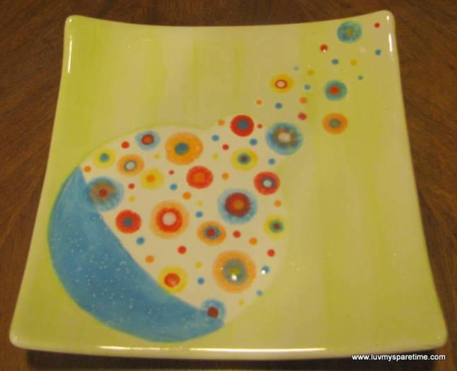 DIY pottery platter