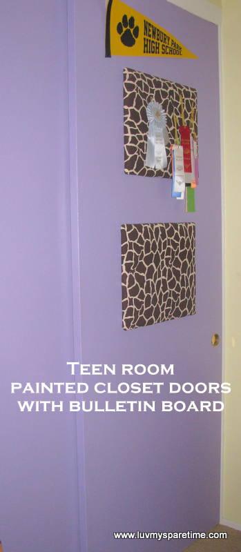 DIY painted closet doors