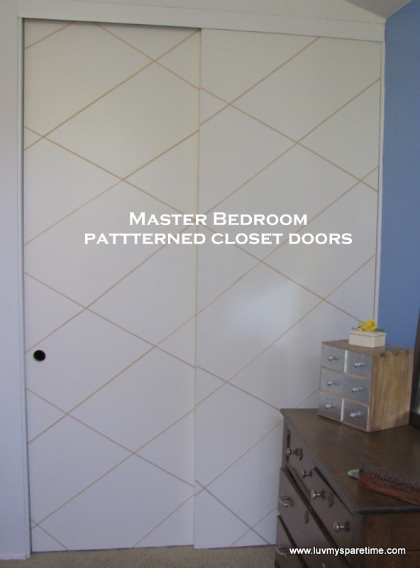 DIY patterned closet doors