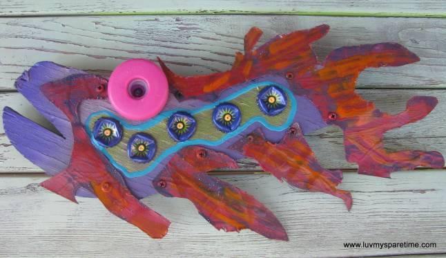 Recycled ocean art