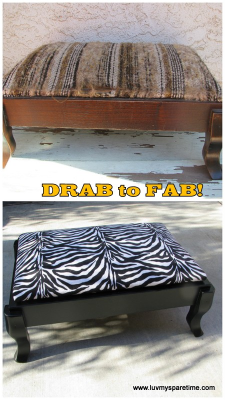 Drab to Fab DIY stool