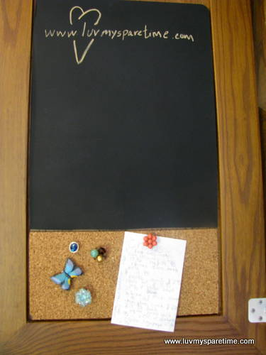DIY cabinet note board