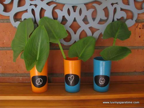 chalk vase