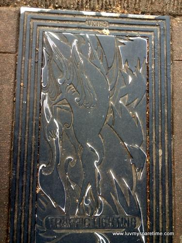 Heron Seattle city light Hatchcover Art