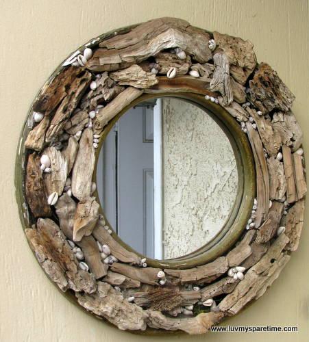 DIY driftwood mirror