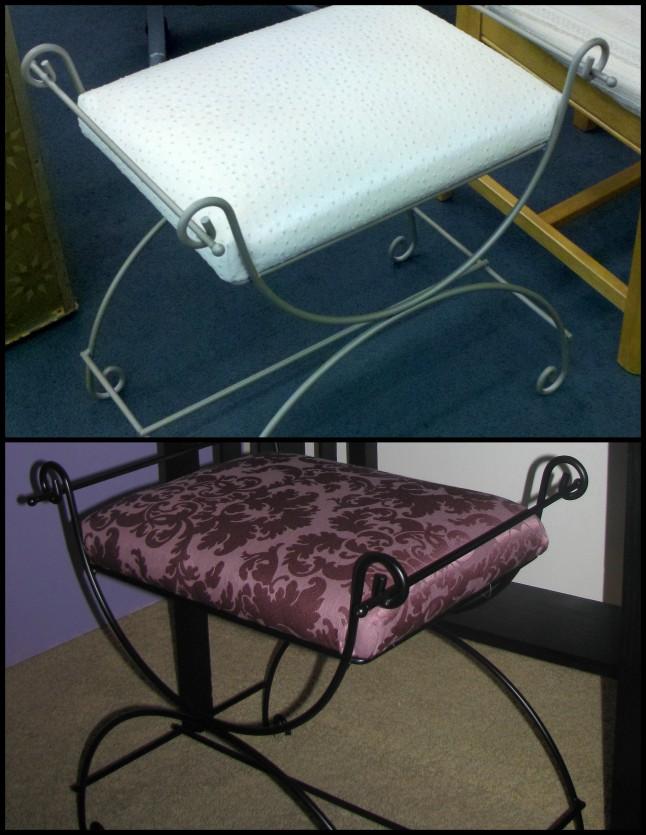 DIY vanity stool