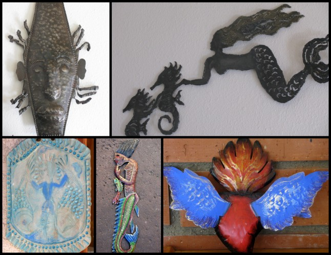 Metal and pottery art