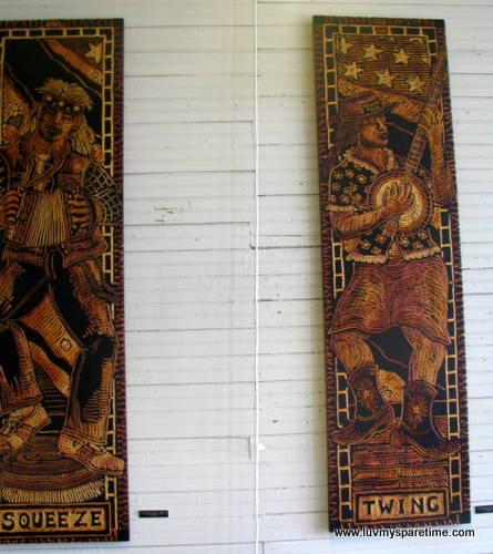 Hillbillies series cut wood panel Art