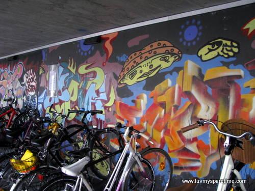Zug train station art
