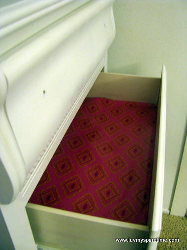 DIY Drawer liner paper
