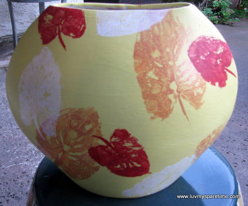 DIY painted pottery vase