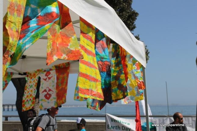 earth day paper towel tie dye
