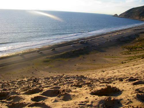 Pacific Coast Highway Sand dune to Climb