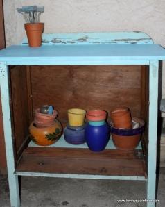 DIY Dresser potting bench