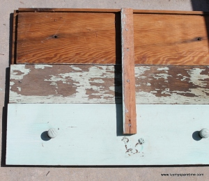 DIY Potting bench shelf