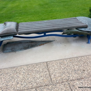 Minneapolis public art Camping bench