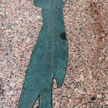 Downtown Minneapolis public art sidewalk shadows