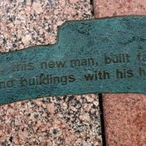 Downtown Minneapolis public art sidewalk shadows 2