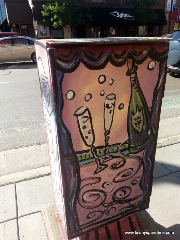 Minneapolis Utility Box Public Art Wine