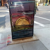 Minneapolis Utility Box Public Art Sunset