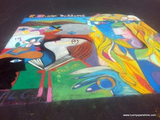 Pedro DeLa Cruz Sidewalk Chalk Art