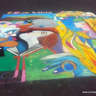 Pedro DeLa Cruz Sidewalk Chalk Art