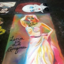 Lena Di Gregorio Sidewalk Chalk Art Marilyn Monroe