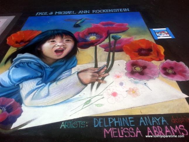 Delphine Anaya & Melissa Abrams Sidewalk Chalk Art 3D