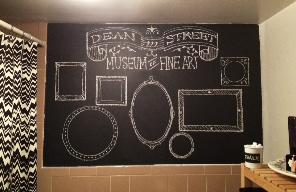 Bathroom DIY Chalkboard wall