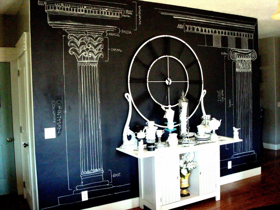 DIY Chalk design wallpaper