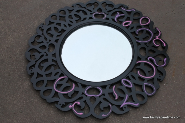 DIY handpainted mirror