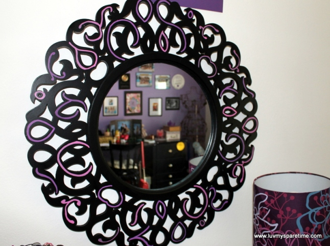 DIY Painted mirror