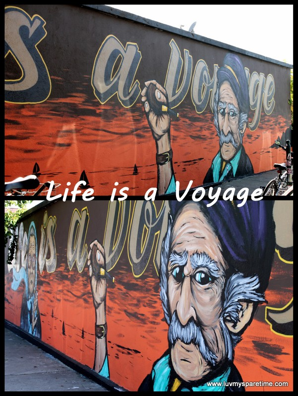 Public Art Life is a Voyage mural