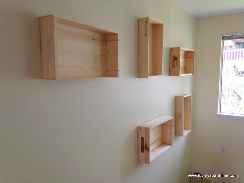 how to build box shelves