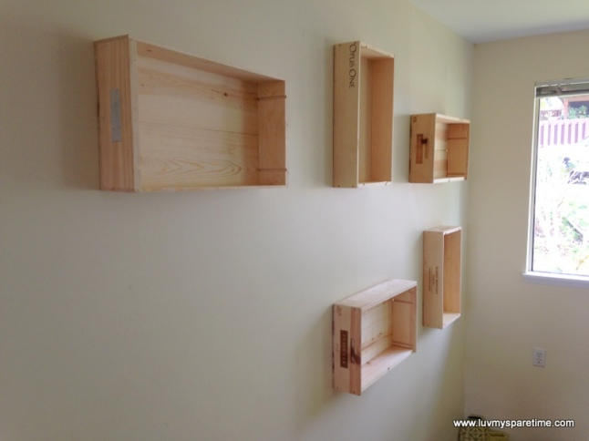 Wine box shelves