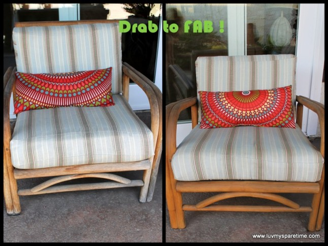 Repaint bamboo chair