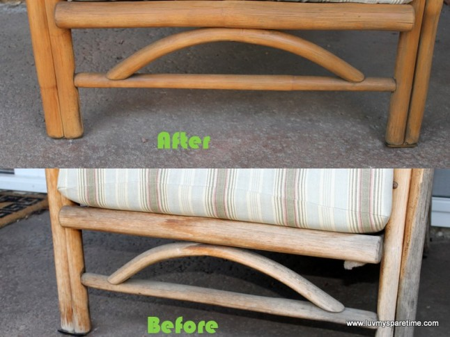 Bamboo chair stain