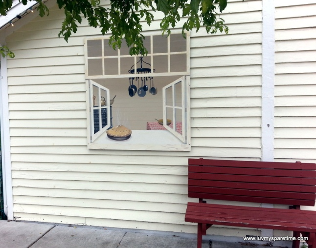 Public Art trompe l'oeil window