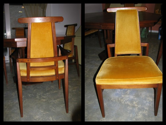 Vintage danish mid century dining chairs