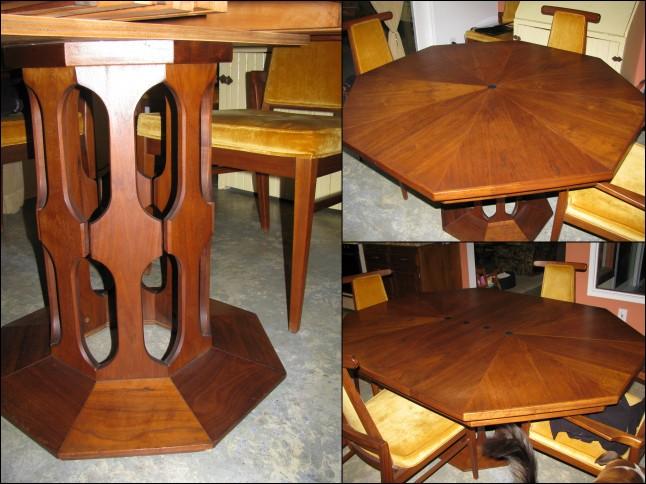 Vintage danish octagon dining table