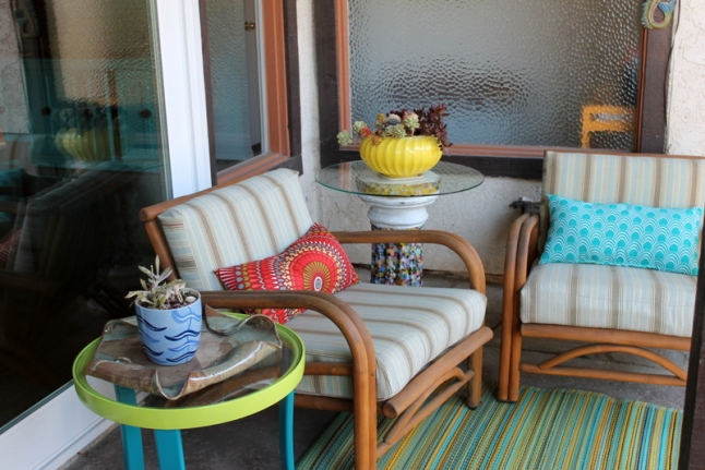 reused outdoor furniture